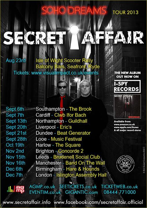 Secret Affair tour dates